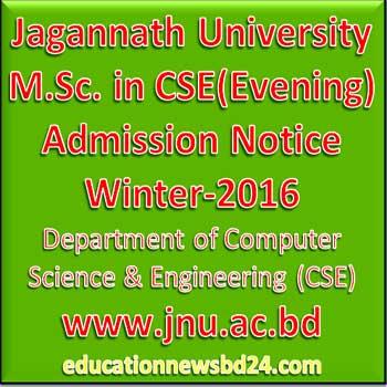Jagannath University M.Sc. in CSE(Evening)