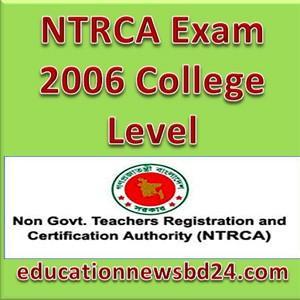 NTRCA Exam 2006 College Level