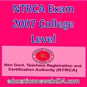 NTRCA Exam 2007 College Level