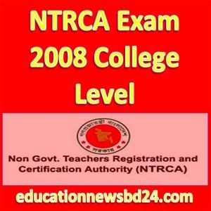 NTRCA Exam 2008 College Level