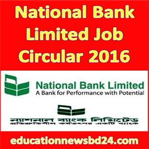 National Bank Limited Job Circular
