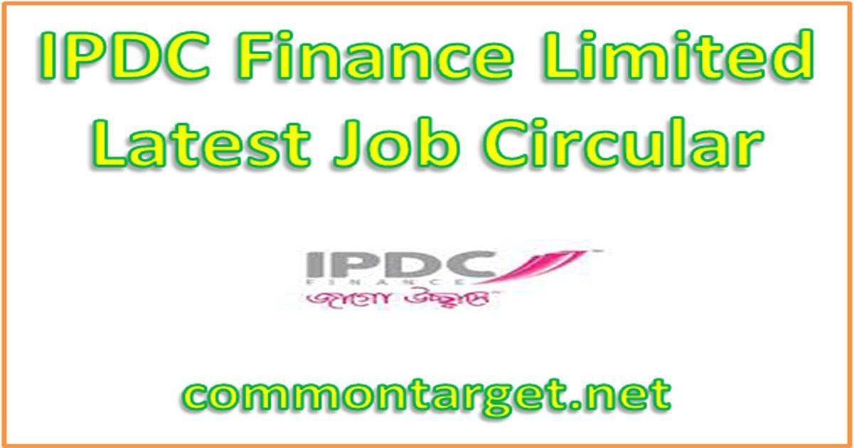 IPDC Job Circular 2020