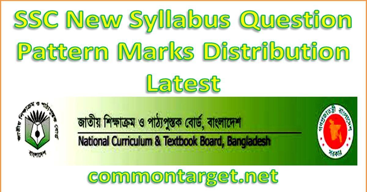 SSC New Syllabus Marks Distribution
