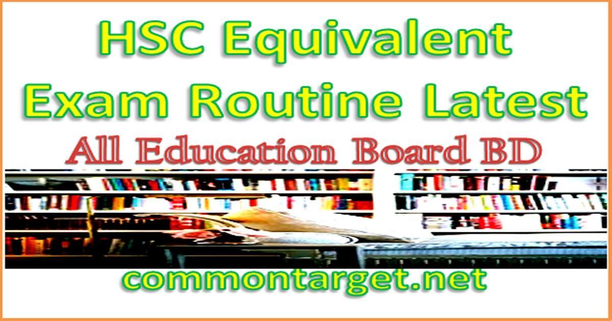 HSC Equivalent Exam Routine 2020